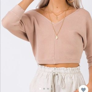 "Princess Polly ""Love More Knit Top Nude"""